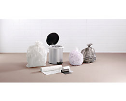 Sacs plastique - sacs-poubelle - capacité 30 l, l x h 540 x 580 mm, transparent, lot de 2000