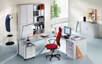 office akktiv CARINA Regalschrank - 3 Hängeregistraturschübe, 2 offene Fachböden