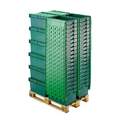 Bac gerbable universel à couvercle rabattable - capacité 54 litres, dim. ext. L x l x h 600 x 400 x 320 mm
