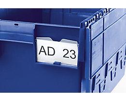 Porte-étiquette transparent - pour grand et petit côté - lot de 10