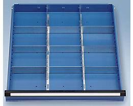 Schubladeneinteilungsset - 2 Längs- und 9 Querteiler - Schubladenhöhe 90 + 120 mm