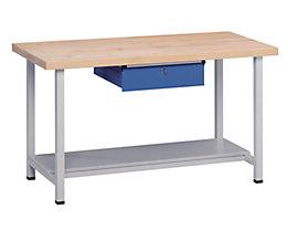 Werkbank, stabil - 1 Schublade, 1 Ablageboden