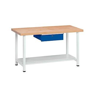 ANKE Werkbank, stabil - 1 Schublade, 1 Ablageboden