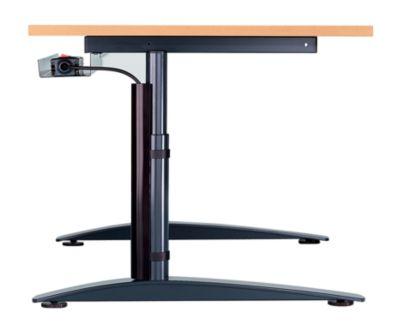 office akktiv CARINA Schreibtisch mit Rundrohrbeinen - Breite 1200 mm