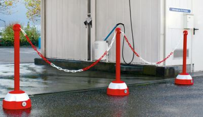 Ketten-Warnständer - für den Innen- und Außenbereich, Höhe 975 mm
