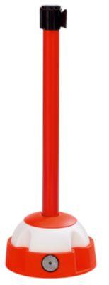 Gurt-Warnständer - mit ausziehbarem Gewebeband, Höhe 985 mm