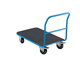 EUROKRAFT Plattform-Magazinwagen - mit festem Schiebebügel
