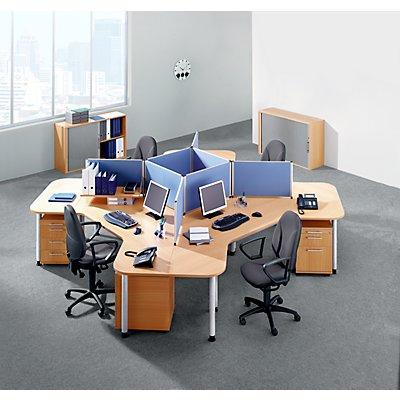 CALL-TEAM Schreibtisch-Trennwand - mit Aluminiumrahmen