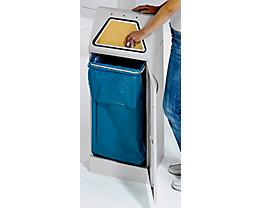 Collecteur de tri avec trappe à ouverture manuelle - avec support sacs-poubelle amovible