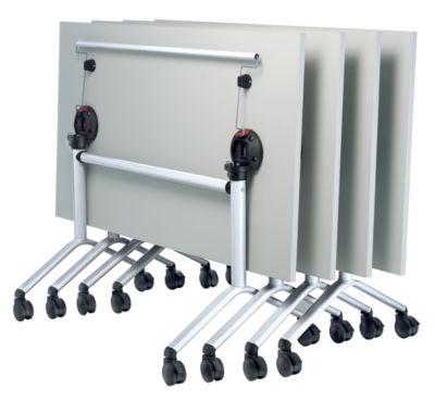 Klapptisch, rollbar - HxBxT 720 x 1600 x 800 mm