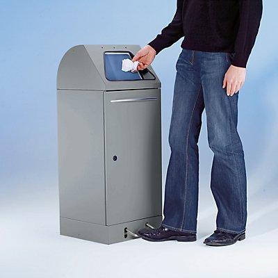 stumpf System-Wertstoffsammler, Einwurfklappe fußbetätigt - mit ausziehbarer Abfallsackhalterung