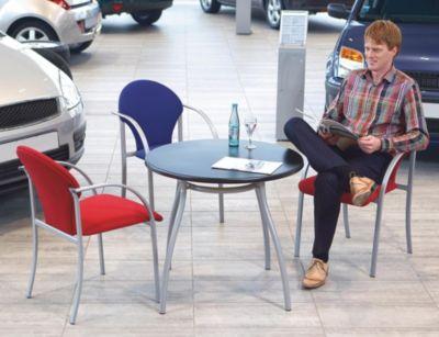 Polsterstapelstuhl - Sitz HxBxT 470 x 450 x 490 mm
