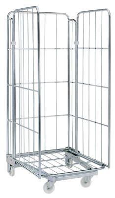 Rollbehälter - 3-seitig, nestbar - Gitterhöhe 1450 mm