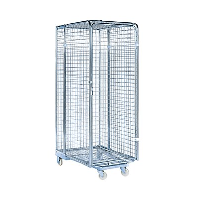 Rollbehälter - 5-seitig, nestbar - abschließbar, Gitterhöhe 1450 mm