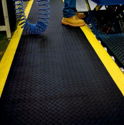 Anti-Ermüdungsmatte, PVC / Neopren - feste Größe, schwarz / gelb