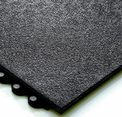 Arbeitsplatzbodenbelag - mit geschlossener Oberfläche, Nitrilgummi - 900 x 900 mm, schwarz