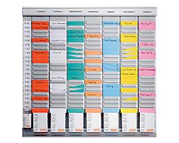 T-Kartenplaner, Wochenplaner - 7 Module mit je 24 Schlitzen