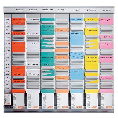 LEITZ T-Kartenplaner, Wochenplaner - 7 Module mit je 24 Schlitzen - mit 800 T-Karten in 8 Farben