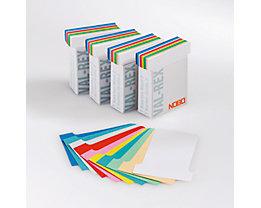 T-Karten - VE 500 Stk, farbig sortiert - HxB 85 x 60 mm