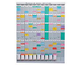 T-Kartenplaner, Jahresplaner - 12 Module mit je 54 Schlitzen