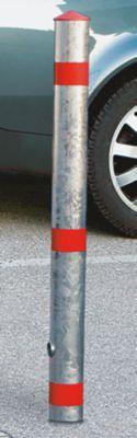 Sperrpfosten aus Stahlrohr - herausnehmbar, mit Bodenhülse - vierkant,