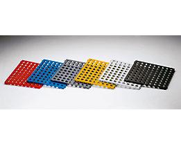 Kunststoff-Bodenrost, Polyethylen - 500 x 500 mm, Standard, VE 20 Stk - schwarz