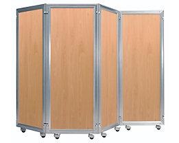 Paravent-System - Element mit Dekorplatte - HxB 1600 x 600 mm, Buche-Dekor