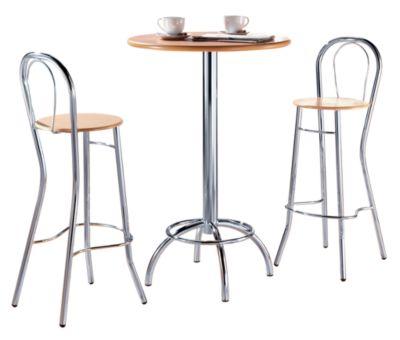 Bistro-Stehtisch - Ø 700 mm - Tischplatte Buche-Dekor