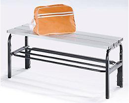 Umkleidebank aus Stahl für Feuchträume - HxT 450 x 330 mm