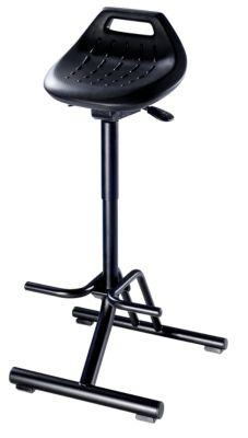 bimos Industrie-Stehhilfe - mit klappbarem Fußgestell und Fußstütze - Sitz um 360° drehbar