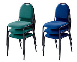 Konferenzstuhl - Stapelstuhl, Gestell schwarz