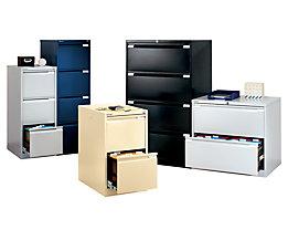 Bisley Classeur pour dossiers suspendus - 2 tiroirs pour dossiers suspendus avec chacun 1 rangée transversale pour format A4