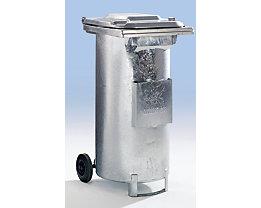 Conteneur spécial pour déchets huileux - en tôle d'acier galvanisée à chaud, mobile