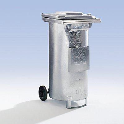 Spezialbehälter für ölhaltigen Abfall - Stahlblech feuerverzinkt, fahrbar