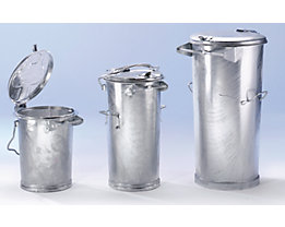System-Mülltonne aus Stahlblech - Volumen 110 l
