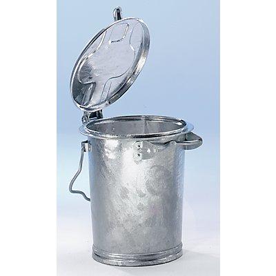System-Mülltonne aus Stahlblech - Volumen 35 l