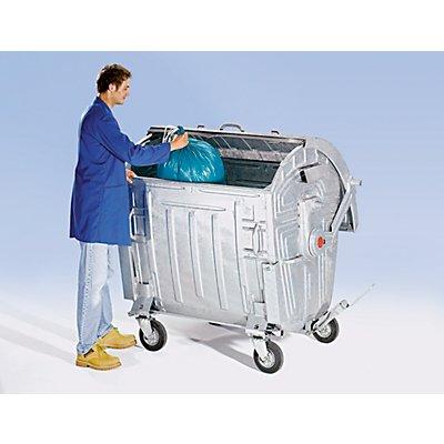 Müllgroßbehälter, verzinkt - Volumen 770 l