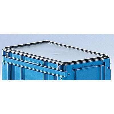 utz Deckel für Euronorm-Stapelbehälter, VE 2 Stk - LxB 300 x 200 mm