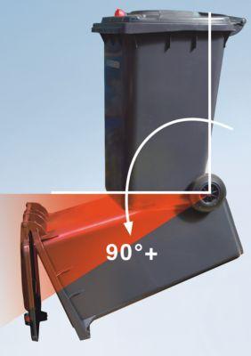 Großmülltonne aus Kunststoff mit Schwerkraftschloss - Volumen 80 l, HxBxT 933 x 482 x 552 mm
