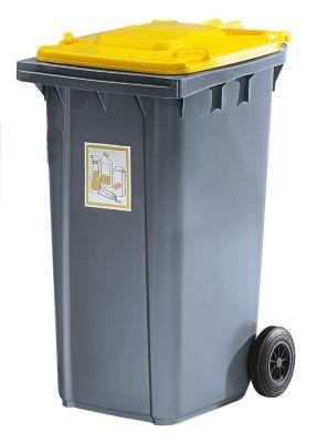 Kunststoff-Großmülltonne nach DIN EN 840 - Volumen 240 l, fehgrau