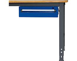 RAU Tisch-Unterbaucontainer - Höhe 150 mm, 1 Schublade - anthrazit-metallic / enzianblau