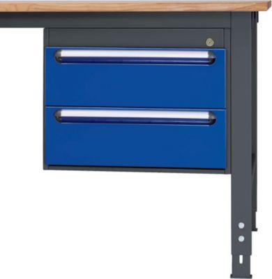 RAU Tisch-Unterbaucontainer - Höhe 440 mm, 2 Schubladen