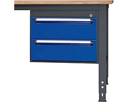 RAU Tisch-Unterbaucontainer - Höhe 440 mm, 2 Schubladen - grau