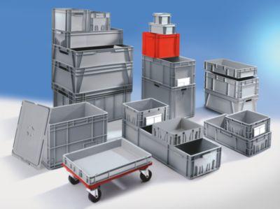 Euro-Stapelbehälter - Inhalt 19 l, LxBxH 600 x 400 x 100 mm, PE