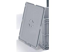 Deckel für Kunststoff-Stapelbehälter - für LxB 600 x 400 mm - grau, ab 10 Stk