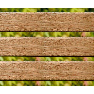 Holz-Sitzbank - massiv, Länge 2 Meter - Latten aus Merantiholz