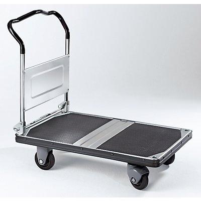 Plattformwagen PREMIUM 300, klappbar, Tragfähigkeit 300 kg - Ladefläche LxB 900 x 600 mm - Schiebebügelhöhe 935 mm