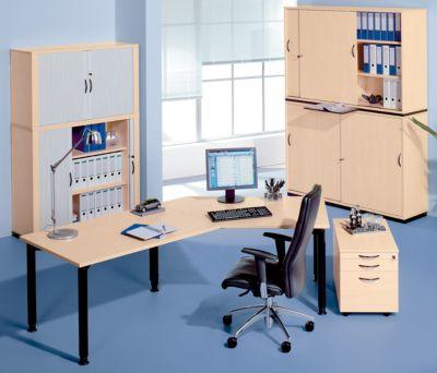 office akktiv CARINA Büro-Schiebetürenschrank - 4 Schiebetüren