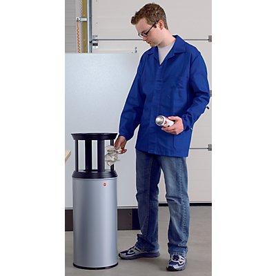 Combiné cendrier-poubelle anti-feu - collecteur capacité 50 l