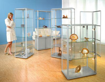 office akktiv Sammlervitrine - mit 7 Etagen und Rundumverglasung